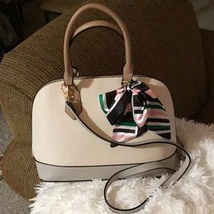 Aldo Tri-Color Top Handle Handbag w/ Bow